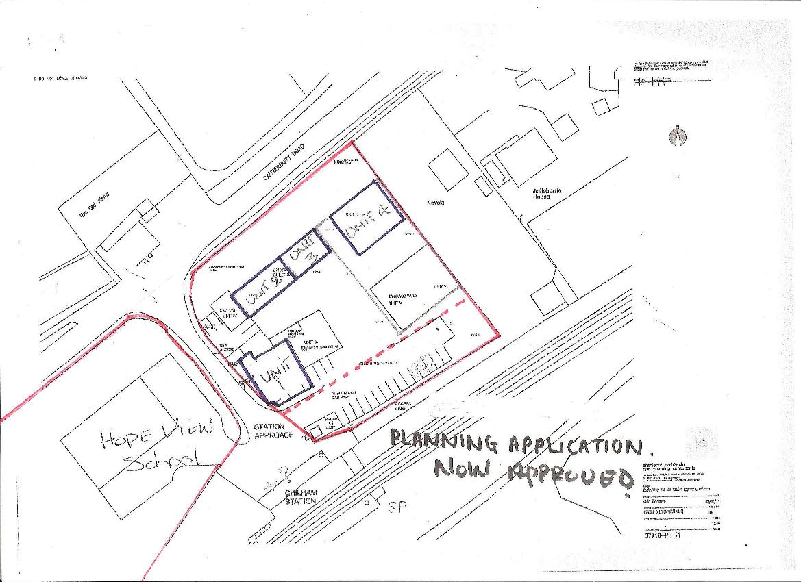 Detailed site plan, Station Approach